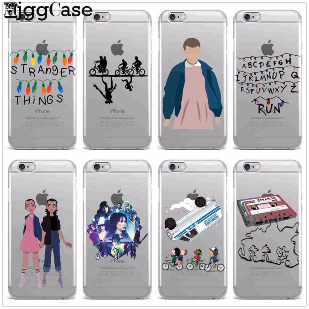 new style 28d2b 81056 TV Stranger Things Design Clear TPU Soft Silicone Phone Case Cover For  Iphone X 5S SE 6S Plus 7 7Plus 8 8Plus Christmas Lights