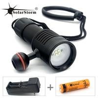 Diving flashlight Solarstorm light torch Photography Underwater Video LED Flashlight 4 White LED Scuba Photography Lamp