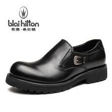 Blai Хилтон 2017, Новая мода весна/осень мужская обувь из натуральной коровьей кожи обувь дышащая/удобные Мужские лёгкие ботинки
