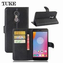 TUKE Luxury Wallet Leather Case For Lenovo K6 Note