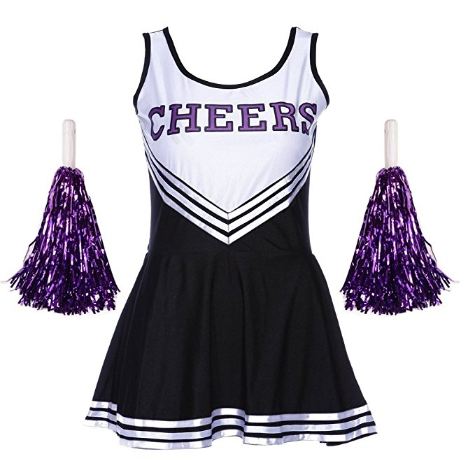 Women's One Piece Cheerleader Dress Uniform High School Cheerleader Costume