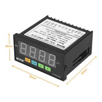 Digital Sensor Meter Multi-functional Intelligent LED Display 0-75mV/4-20mA/0-10V Input Pressure Transmitters