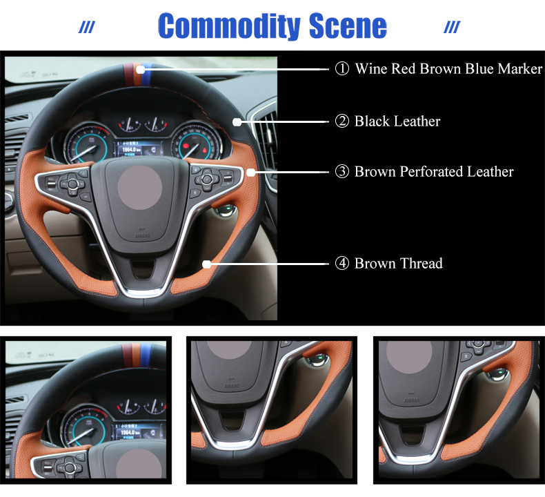 for Opel Insignia steering wheel cover