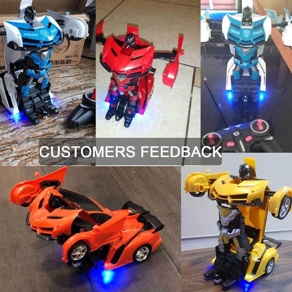 Радиоуправляемый автомобиль роботы-трансформеры спортивный автомобиль модель игрушечные роботы Прохладный деформации автомобиль дети игрушки подарки для мальчиков