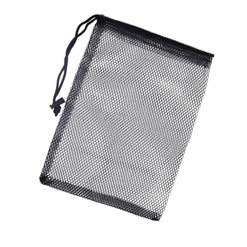 Outdoor Sport Nylon Mesh Nets Bag Pouch Golf Tennis Keep Up To 50 Balls Holder Golf Balls Storage Clasp Training Aid Bag