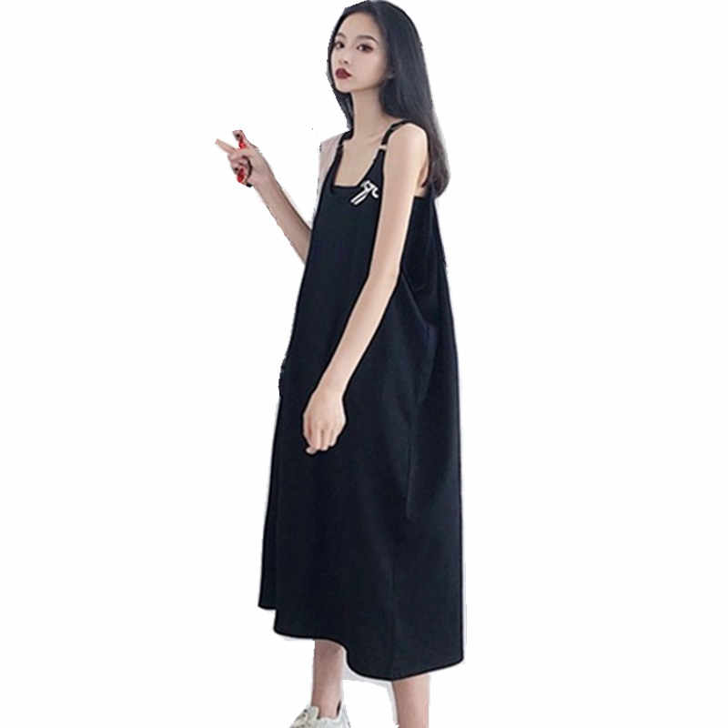 Maternity Dresses Summer Clothes For Pregnant Women Clothing O-neck Sleeveless Loose Pregnancy Dress 2019 Plus Size Vestido