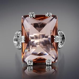 Image 5 - Szjinao 925 Sterling Zilveren Ring Amber Vierkante Voor Vrouwen Bridal Wedding Edelsteen Ringen Enagement Party Fijne Sieraden Hoge Kwaliteit