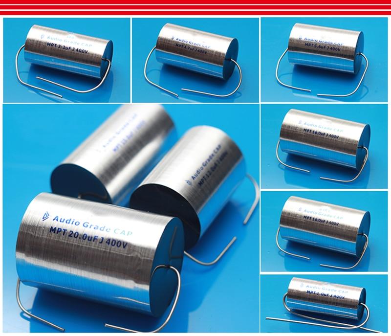 2PCS 400VDC 8UF Axial MKP Audio Capacitor For Speaker Crossover Tube AMP DIY