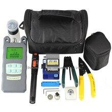 170 шт./лот волоконно-оптический набор FTTH инструментов FC-6S волокно Кливер   оптический измеритель мощности 10 мВт Визуальный дефектоскоп   волокно режущие лезвия