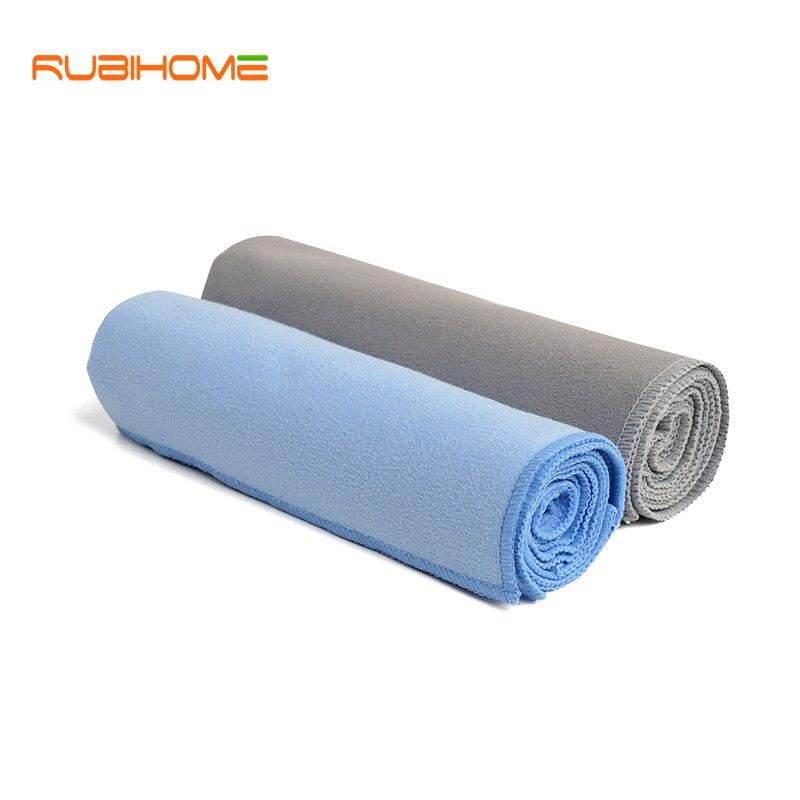 RUBIHOME Solid Large Sport Gym Swim Beach Ručníky Vana pro dospělou ženu Muž 160x80cm Mikrovlákno Samet Travel Quick Dry Yoga