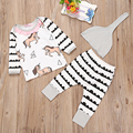 Newborn Baby girls Clothing Set Christmas Infant  girl Clothing 3pcs Tshirt+Pants+Hats Baby girls Sets Thanksgiving Baby Outfit