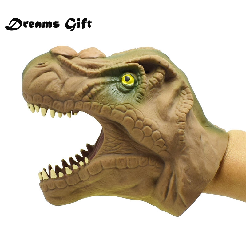 Honey Dinosaur Hand Puppet Toys Children Toy Soft Vinyl Tpr Dinosaur Hand Puppet Animal Head Hand Puppets Kids Toys Gift Puppets Dolls & Stuffed Toys