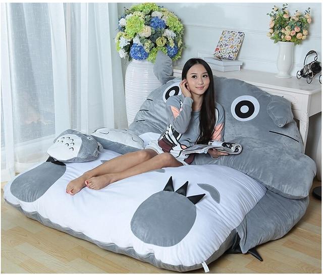 Soft bed Cushion/Sleeping Bag Huge Cute Cartoon Bed Memory Foam Mattress Cover Pad Bedding Set Protector,1.4m*2m