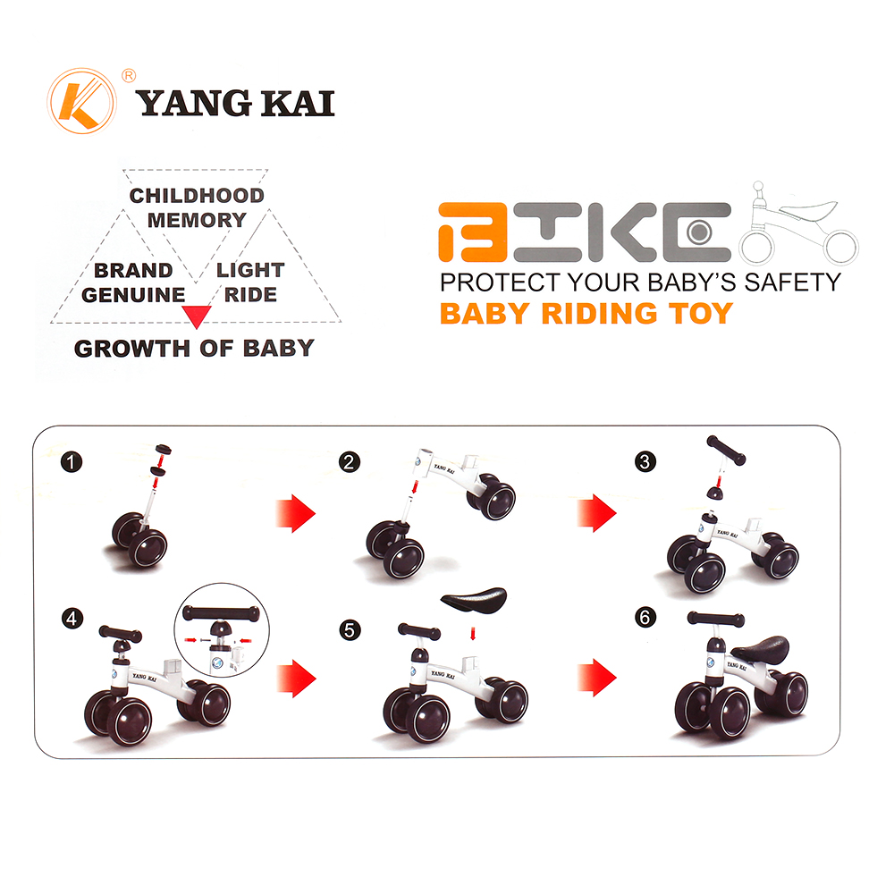 High Quality Children Three wheel Balance Bike kids Scooter Baby Walker   Years Tricycle Bike