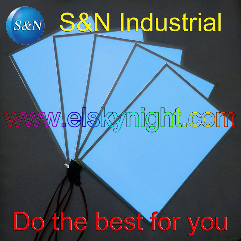 A5 Size Ice Blue El Sheet El Panel El Back Light With DC12V Controller On/flash/off For Advertising Or Decoration Free Shipping