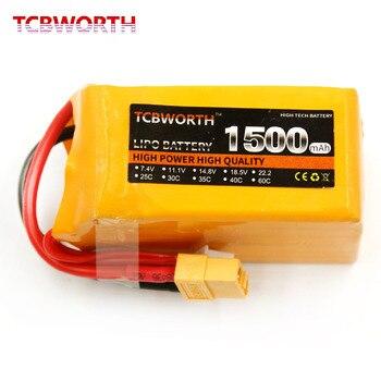 TCBWORTH RC LiPo батарея 4S 14,8 V 1500mAh 35C Max 70C для RC вертолета самолета автомобиля лодки аккумуляторная батарея Li-Po 4S 1500mah