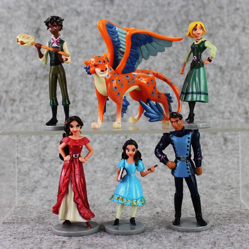 New Toy 6pcs set Anime PVC Action Figure Elena of Avalor Toys Doll Model Collection Figurines