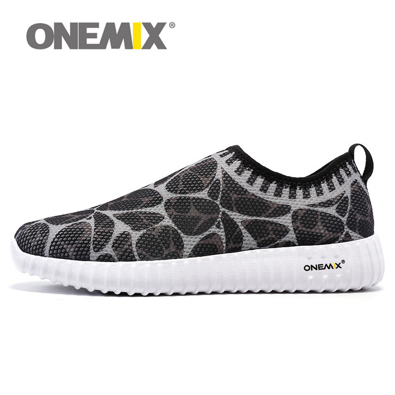 ONEMIX Lightweight Slip On Running Shoes for Men Women Walking Track Shoes Breathable Air Mesh Sneakers Trainers FREE FLY
