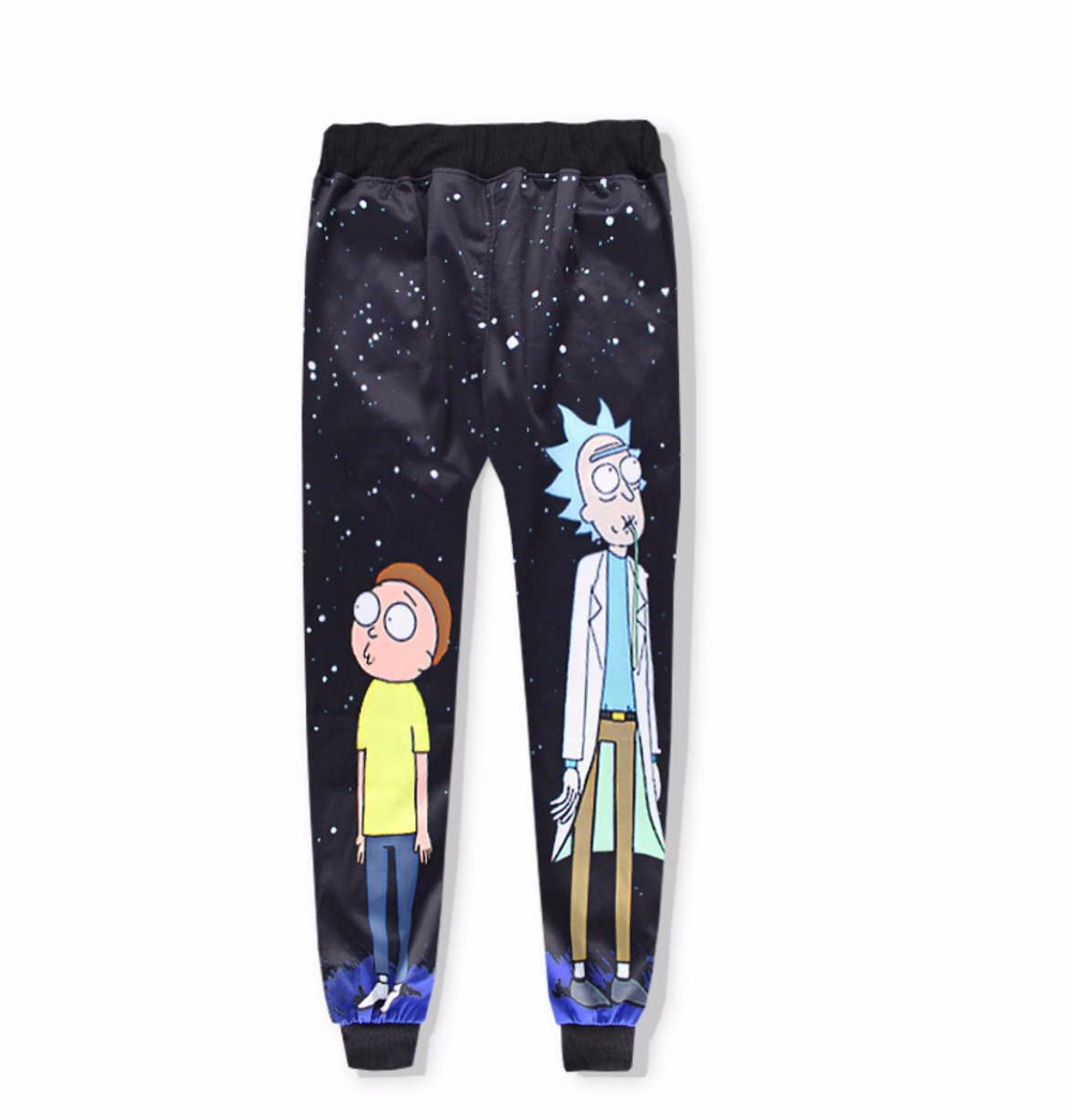 Casual Unisex Rick and Morty  Print Hoodies or Skinny Jeans (Sell by Separate) Anime Sweatshirt With Hat Spring Autumn Clothing Rick and Morty  Print Hoodies HTB1