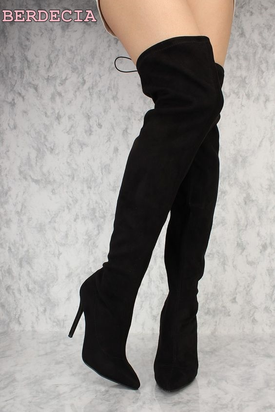 black red suede leather over the knee high boots pointed toe thin heel shoes lace up thigh high boots ladies party long boots newest design pointed toe long boots thin high heels thigh high boots army green suede lace up skinny dress boots nightclub shoe