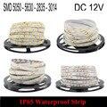 IP65 DC 12V RGB LED Strip Waterproof 5050 5630 2835 3014 5M 300LED Fita LED Light Flexible Neon Lamp Tira LED 12V Ledstrip Tape