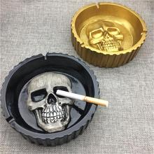 Skull Ashtray Retro Resin Home Desktop Decoration European Style Crafts Innovative Shock-resistance And Heat-resistance New