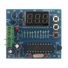 DIY Наборы AT89C2051 DS18B20 комплект цифровой Температура контроллер микроконтроллер Дизайн термометр электронный suite