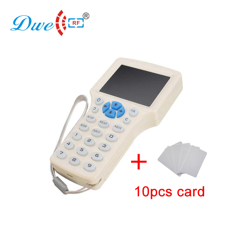 DWE CC RF access control card reader rfid duplicator HD color screen 125khz 13.56mhz duplikator cloner rfid clone dwe cc rf 2017 hot sell 13 56mhz 12v wg 26 rfid outdoor tag reader for security access control system