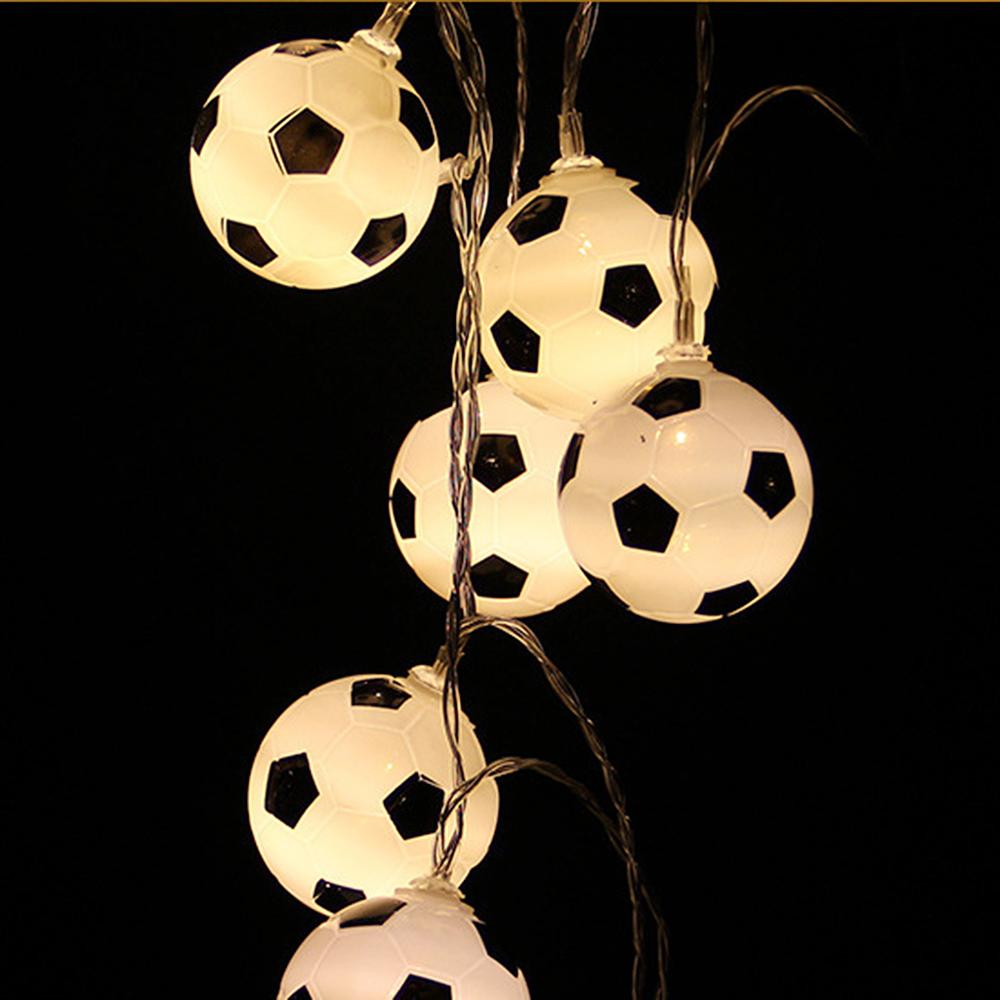 1.5M Waterproof Football Copper Silver Wire <font><b>10</b></font> <font><b>LED</b></font> String <font><b>Lights</b></font> Holiday Lighting For Fairy Christmas Tree Wedding Party Decorat image