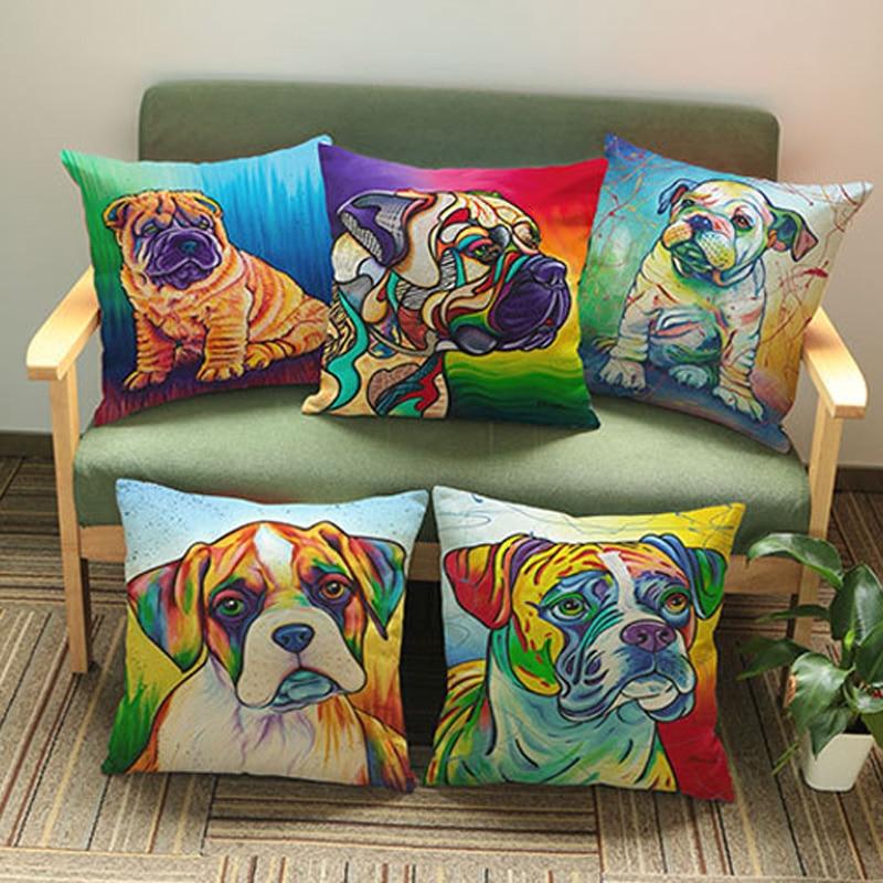 ₪Color lindo perro creativo Fundas de colchón impresión Mantas ...
