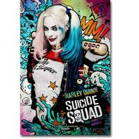 Harley Quinn Suicide Squad Superheroes Art Silk Fabric Poster Canvas Print 4 Sizes Movie Picture For