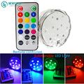 Waterproof IP68 Submersible Led Underwater Lights  16 colors RGB Led light with 3pcs AAA Battery 20 Key Remote Control