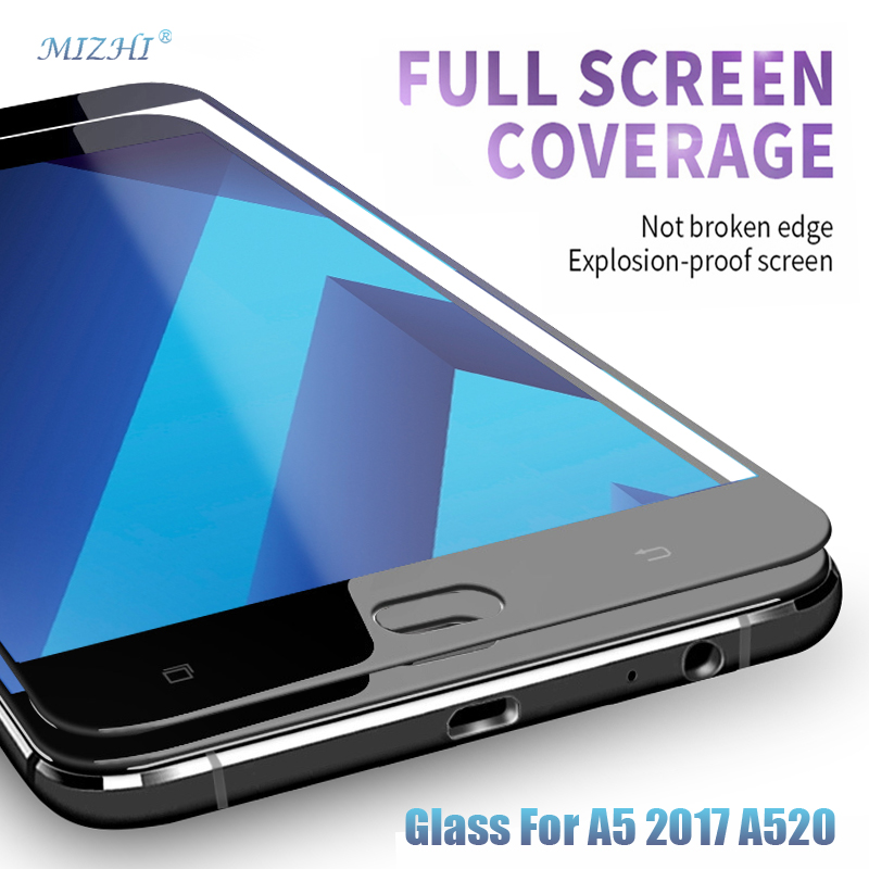 Glas For A5 2017 A520 9 H Full Cover Tempered glass For Samsung Galaxy A 5 2017 A 520F A 520 5.2inch Screen Protective Film Case