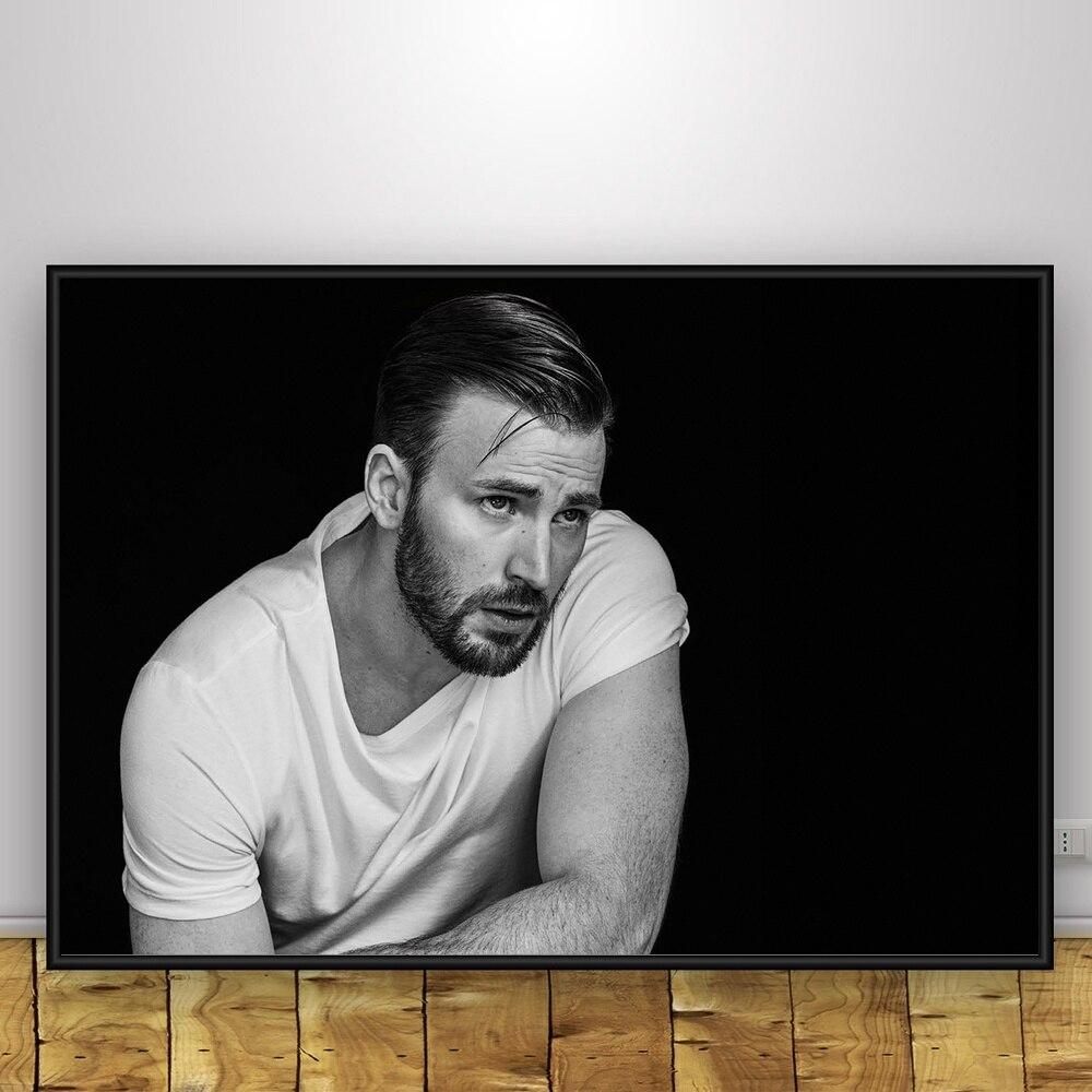 Крис Эванс Книги по искусству Шелковый плакат Home Decor 12x18 24x36 дюймов