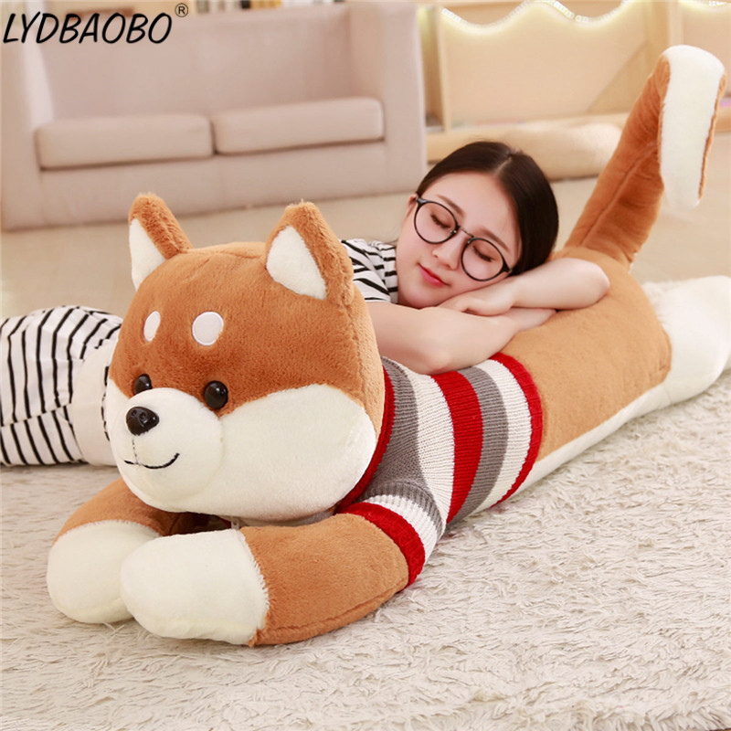 1pc Creative Giant Sweater Shiba Inu Dog Plush Toy Stuffed Soft Kawaii Animal Cartoon Pillow Lovely Gift Doll Kids Baby Children 1pc 55cm cute fat shiba inu dog plush pillow stuffed soft cartoon animal toys lovely kids baby children christmas gift dolls