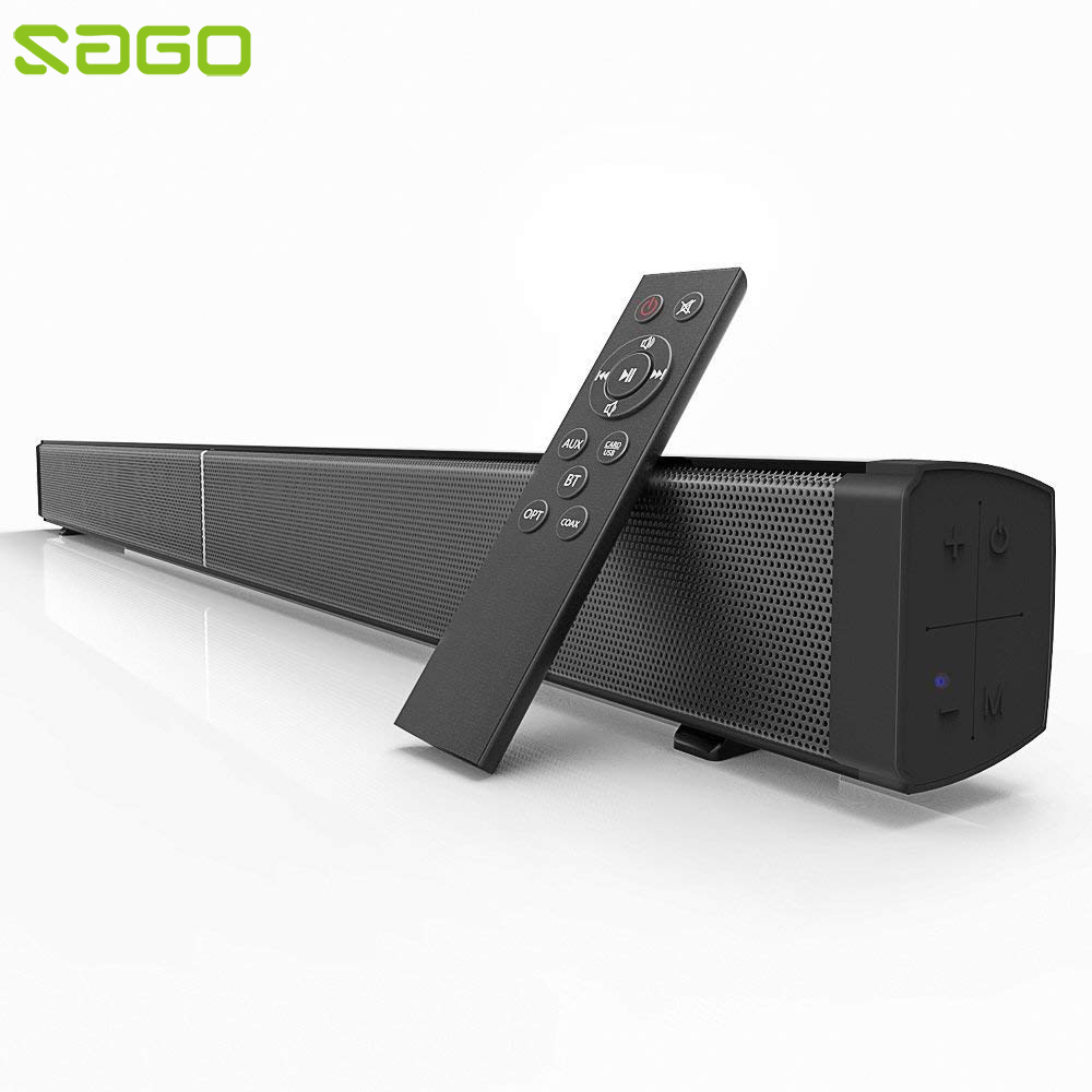 Sago LP09 Bluetooth Speaker Soundbar Wireless Home Theater Loudspeaker Audio Stereo Speaker System with Subwoofer Optical Input