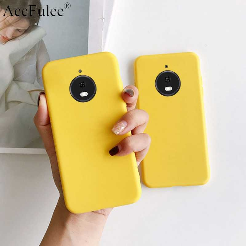 Yellow Candy Matte Clear TPU Case For Motorola Moto E5 G7 Power G6 Play G6+ G6 Plus X4 Cute Candy Anti-knock Rubber Cover