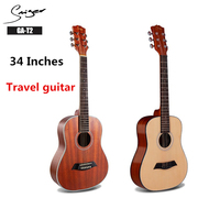 Travel Guitar Spruce Acoustic Electric Steel String 34 Inches D Body Guitarra 6 Strings Folk Pop Cutaway Sapele Child Portable