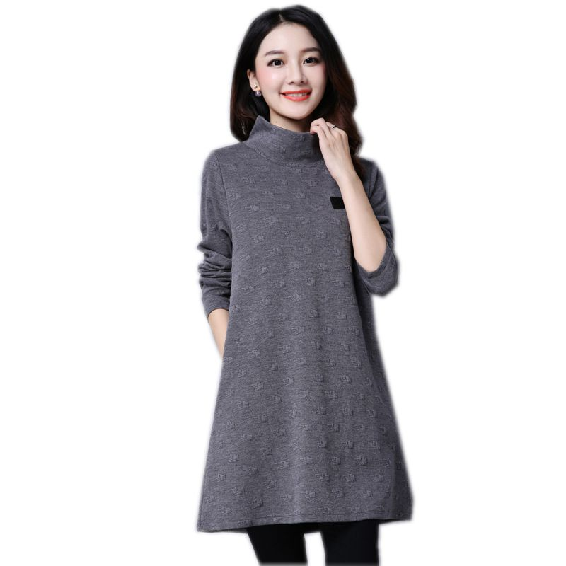 Vestidos 2018 Autumn Winter Wool Women Dress Thicker Loose Cashmere Femme Knit Dresses Party Dress