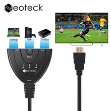 1080P 3D HDMI HUB 3 Ports Switcher Adapter Cable HDMI 1.3 Converter 3 in 1 out Port Hub for HDTV PC Projector PS3 PS4 Xbox STB