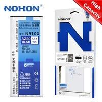 NOHON-Batería de repuesto para Samsung Galaxy Note 4, N9100, EB-BN916BBC, N910X, EB-BN910BBE, polímero de litio
