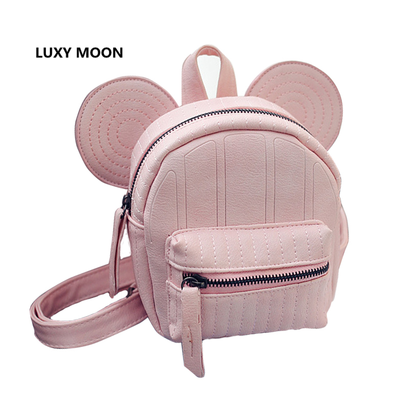 Mickey ear backpack for teenage girls small mouse girl back pack cute mini korea bagpack cartoon design backpacks 2017 new elecom 2 4g mini mouse vwith charging for home office general balls the mouse girl