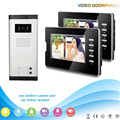 chuangkesafe multi-apartment video door phone with 7inch screen intercomand night vision