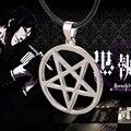 Black Butler Kuroshitsuji necklace Pentacle pentagram pendant Lucifer Satan logo silver Supernatural jewelry for men and women