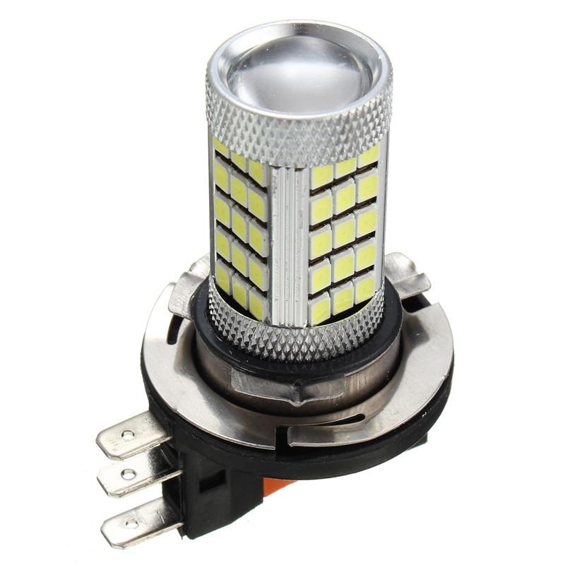 2pcs High Power H15 63 SMD 2835 Car Auto DRL LED Daytime Running Light Fog Lamp Bulb Pure White 6000K DC12V-24V
