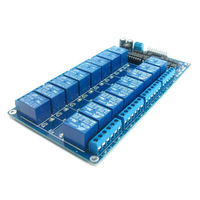 1pc 16 Channel 12V Relay Shield Module With Optocoupler High Quality Relay Module Fits For Arduino