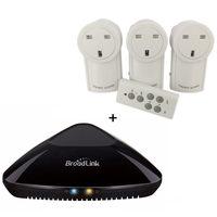 Universal Long range socket RF uk plug 433.92mhz learning code outlet plug wireless remote control compatible Broadlink rm pro+
