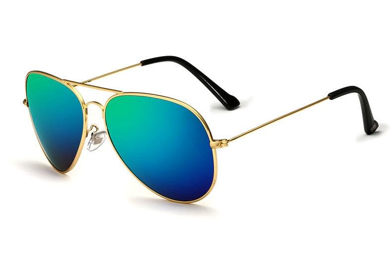 Солнцезащитные очки унисекс VEITHDIA, брендовые классические дизайнерские очки с зеркальными поляризационными стеклами, степень защиты UV400, для мужчин и женщин - Цвет линз: goldgreen