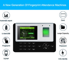 Eseye Biometric Fingerprint Reader Time Attendance System TCP/IP USB Access Control Clock Recorder Employees Device