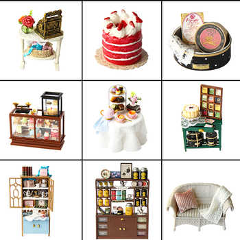 CUTEBEE DIY Dollhouse Wooden doll Houses Miniature Doll House Furniture Kit Casa Music Led Toys for Children Birthday Gift A68C